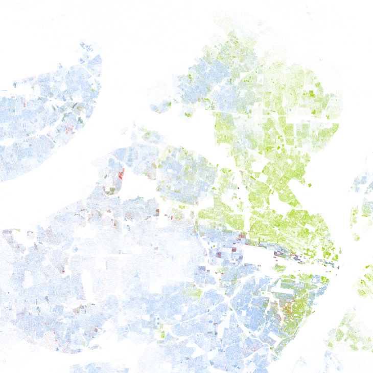 Map of racial segregation in St. Louis, Missouri